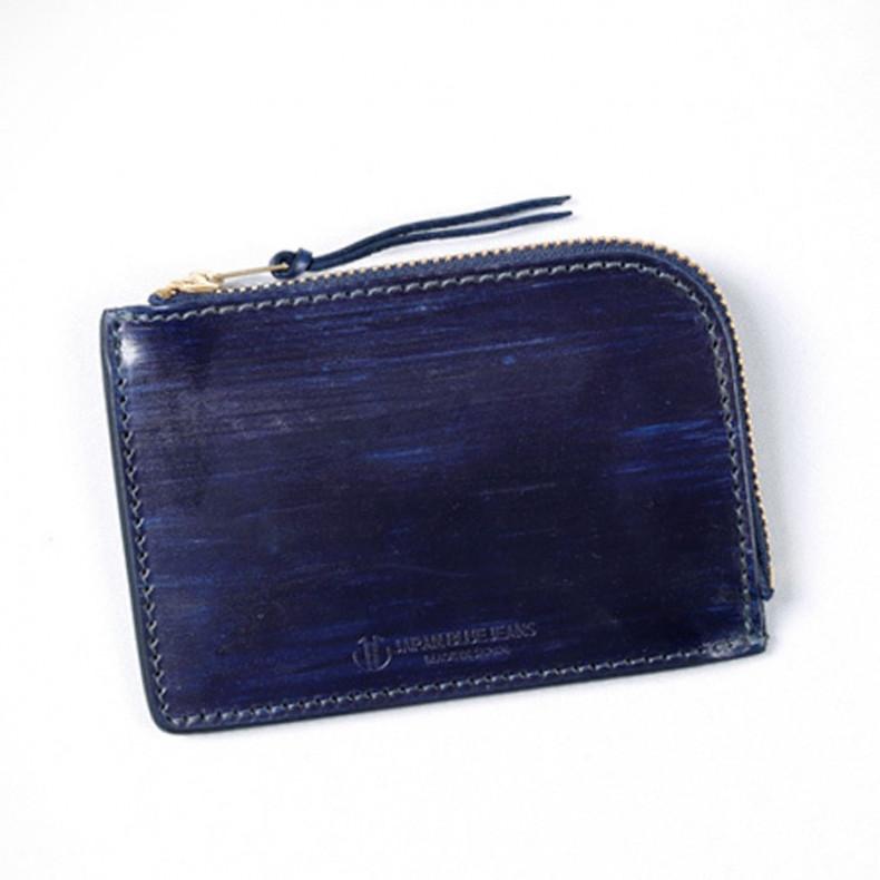 Кошелек Japan Blue Jeans JBAC006(ID) Leather Zipper Wallet Indigo Dyed