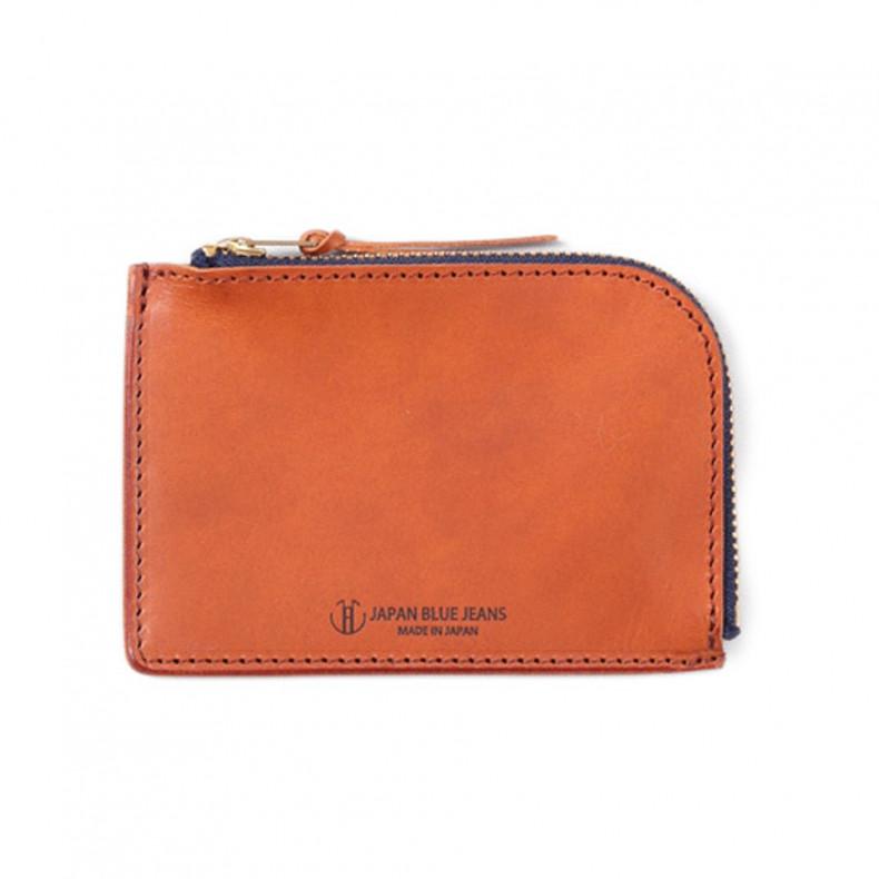 Кошелек Japan Blue Jeans JBAC006(BR) Leather Zipper Wallet Brown