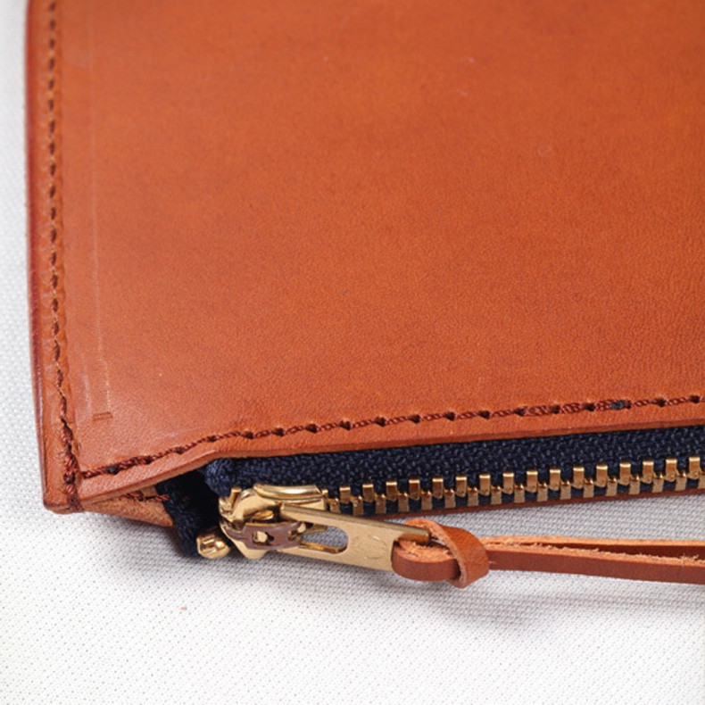 Кошелек Japan Blue Jeans JBAC006(BR) Leather Zipper Wallet Brown