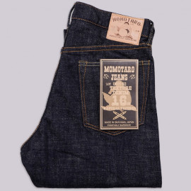 Джинсы Momotaro Jeans 0605-82 Natural Tapered Texture Denim 16 Oz Selvedge - One Wash