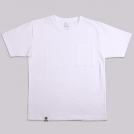 Футболка Momotaro Jeans 07-049 Zimbabwe Cotton Pocket T-Shirt White