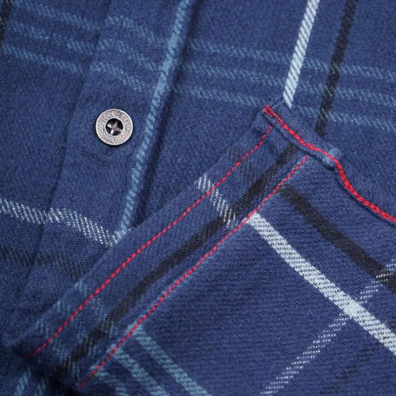 Рубашка Iron and Resin Meridian Flannel Shirt Sea Blue