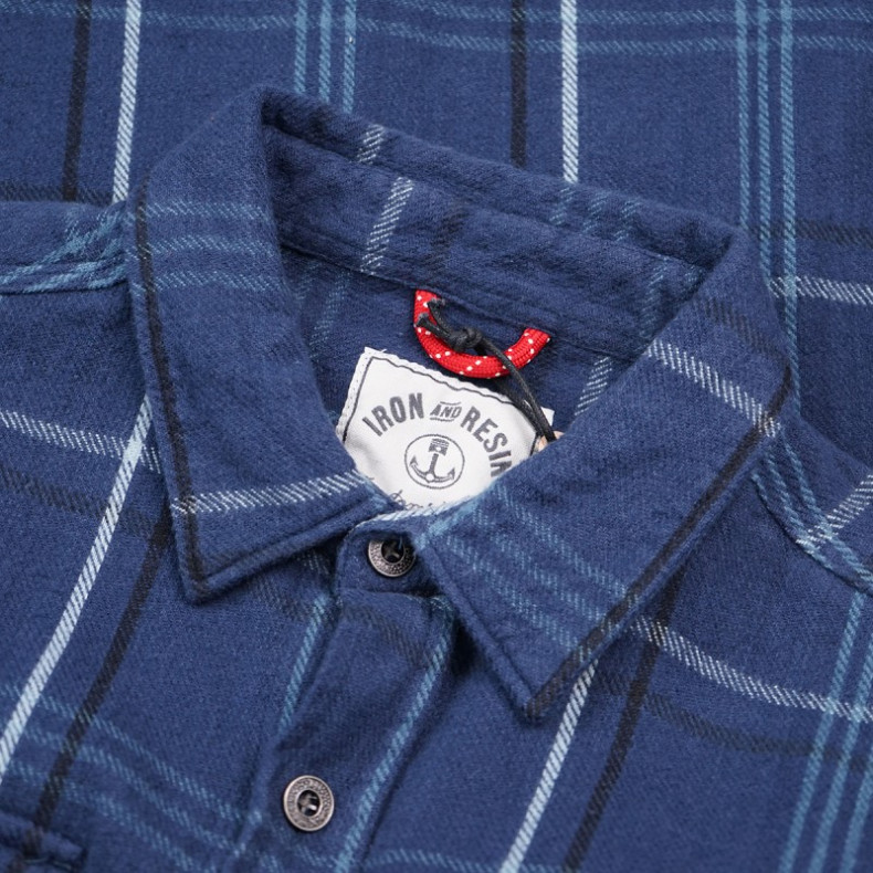 Рубашка Iron and Resin Meridian Flannel Shirt Sea Blue
