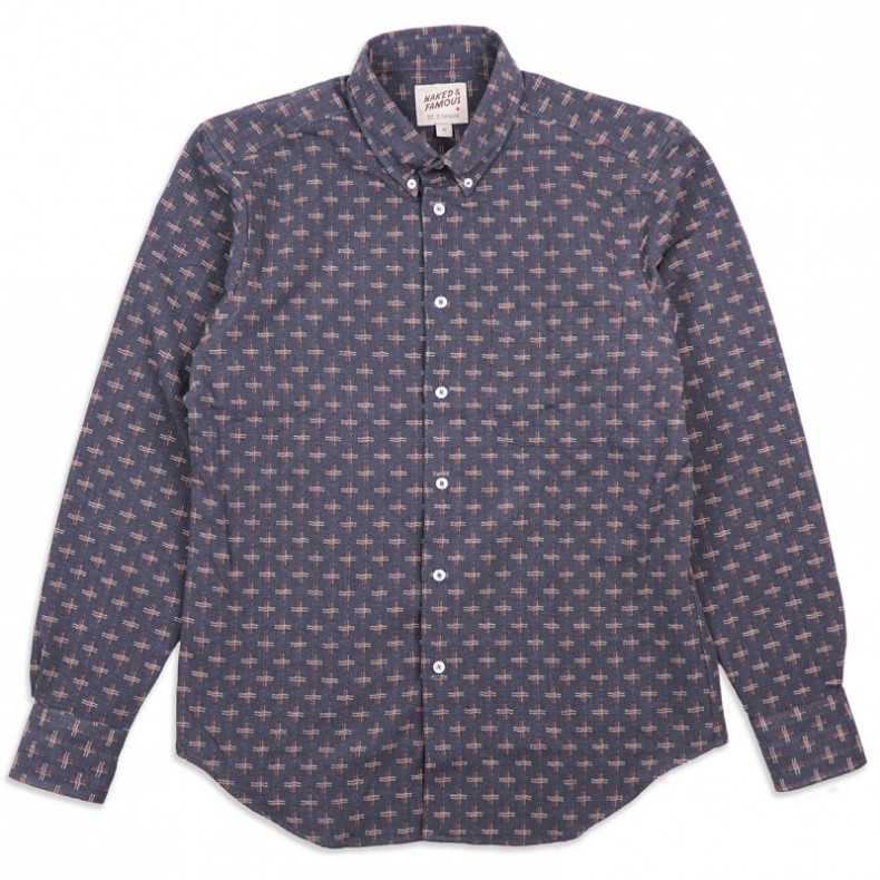 Рубашка Naked and Famous Easy Shirt - Traditional Sashiko