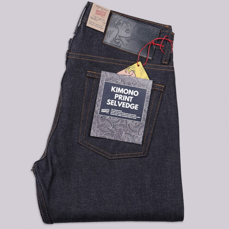 Джинсы Naked and Famous Weird Guy - Kimono Print 12 oz Selvedge
