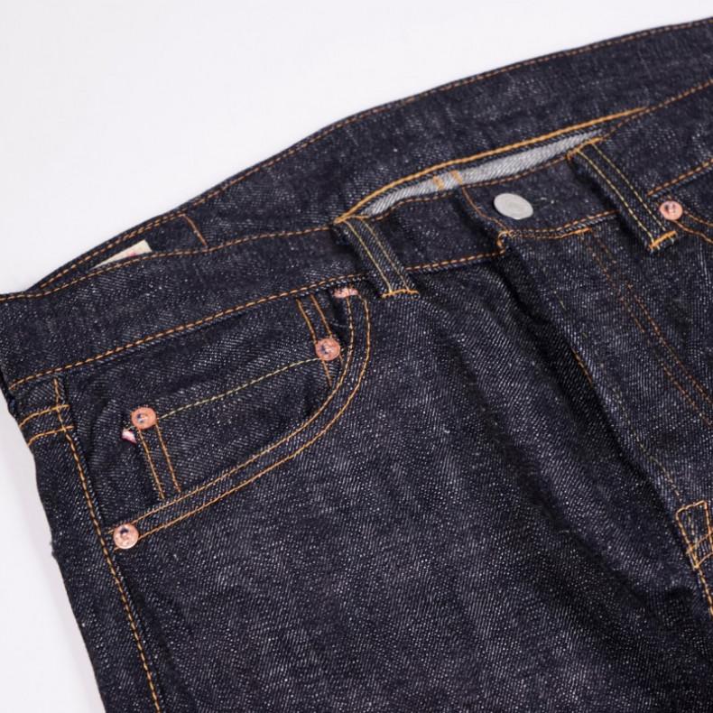 Джинсы Momotaro Jeans 0306-82 Tight Tapered Texture Denim 16 Oz Selvedge - One Wash