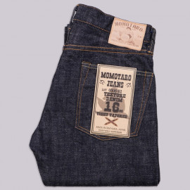 Джинсы Momotaro Jeans 0306-82 Tight Tapered Texture Denim 16 Oz Selvedge - One Wash