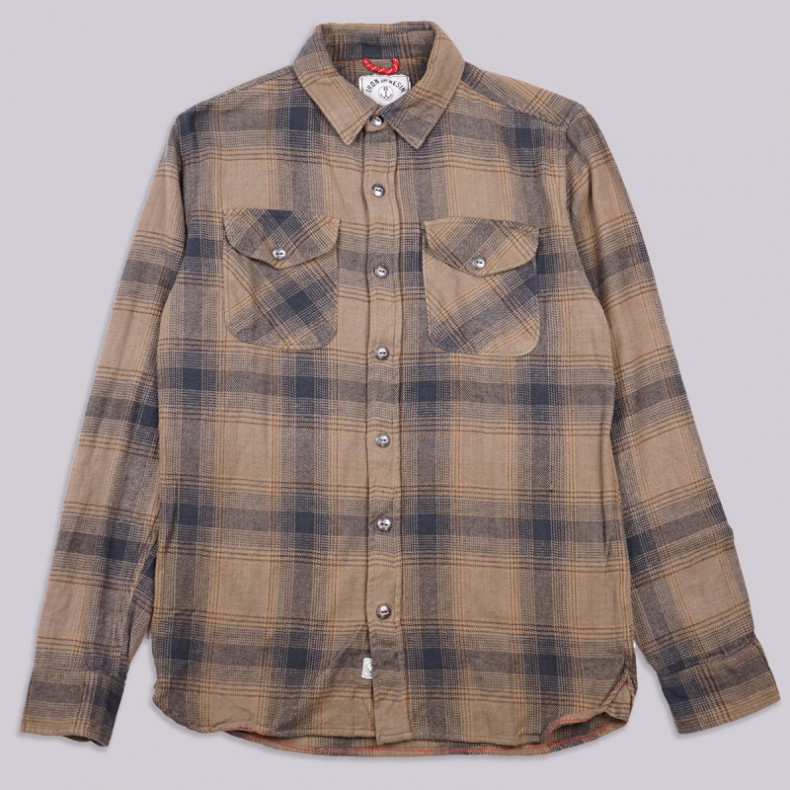 Рубашка Iron and Resin Rockland Flannel Shirt Military