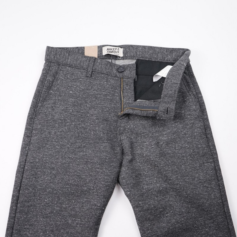 Брюки Naked and Famous Straight Chino - Nep Stretch Twill - Charcoal