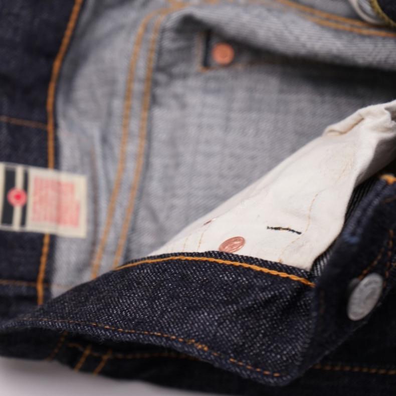 Джинсы Momotaro Jeans 0605-70 Natural Tapered 13.5 Oz Zimbabwe Cotton Slubby Selvedge One wash