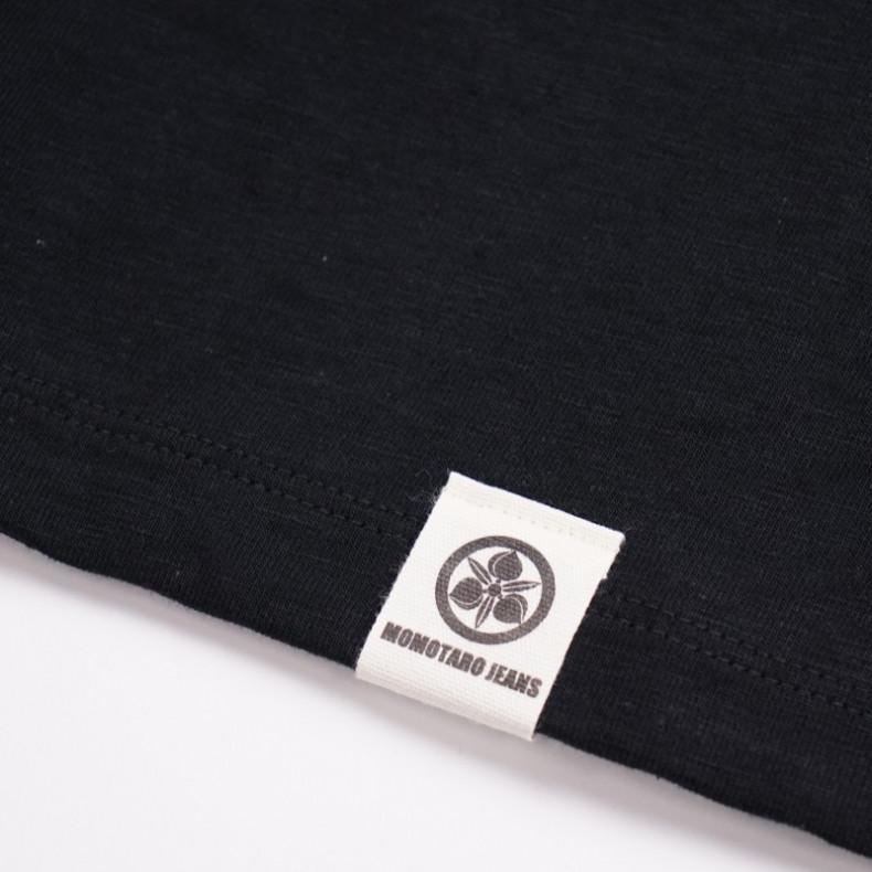 Футболка Momotaro Jeans 07-049 Zimbabwe Cotton Pocket T-Shirt Black