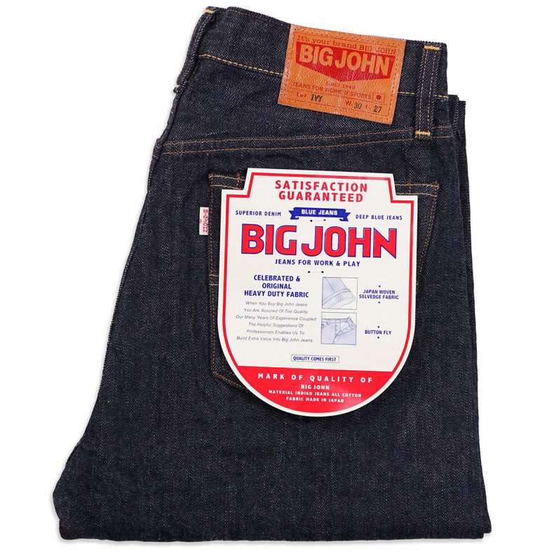 Джинсы Big John M114J-001 IVY Relax Tapered Fit - One Wash Selvedge