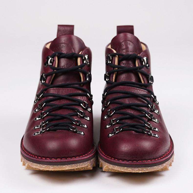 Ботинки Fracap M120 Scarponcino Bordeaux /Ripple Sole Canapa