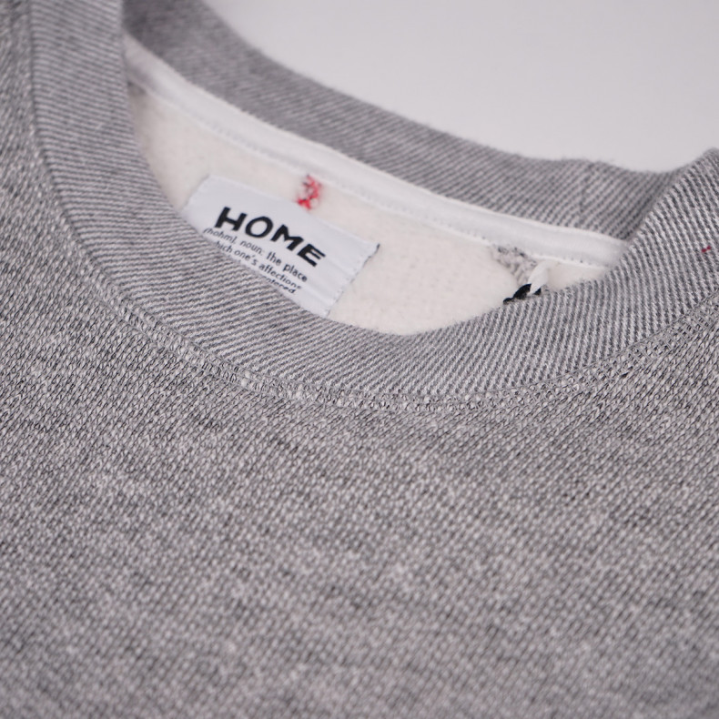 Толстовка Homecore Terry Cotton Jersey Sweat Ash Grey