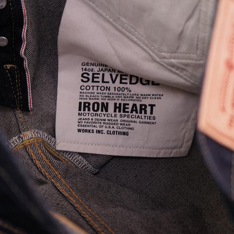 Джинсы Iron Heart IH-555S-142 Super Slim Cut 14oz Selvedge Denim - Indigo One Wash