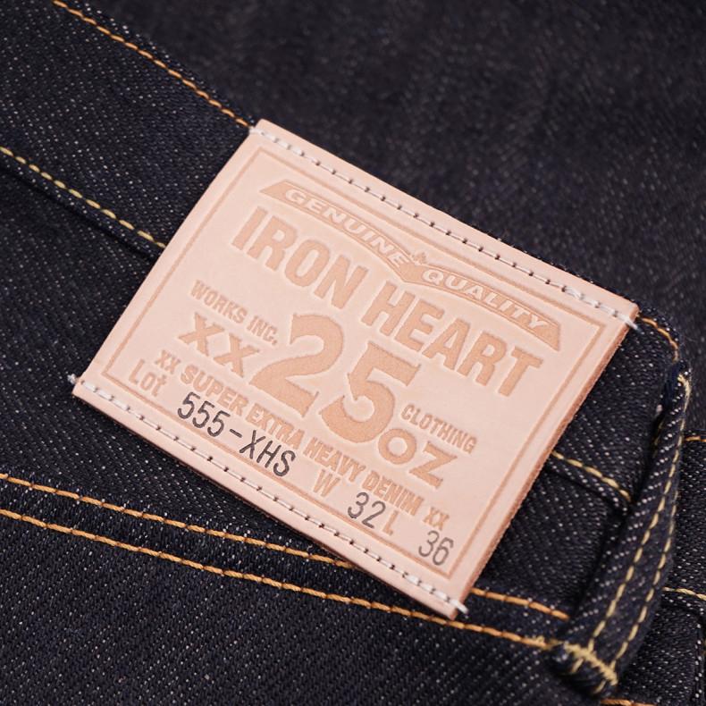 Джинсы Iron Heart IH-555-XHS Super Slim Cut 25oz Selvedge Denim - Indigo Raw