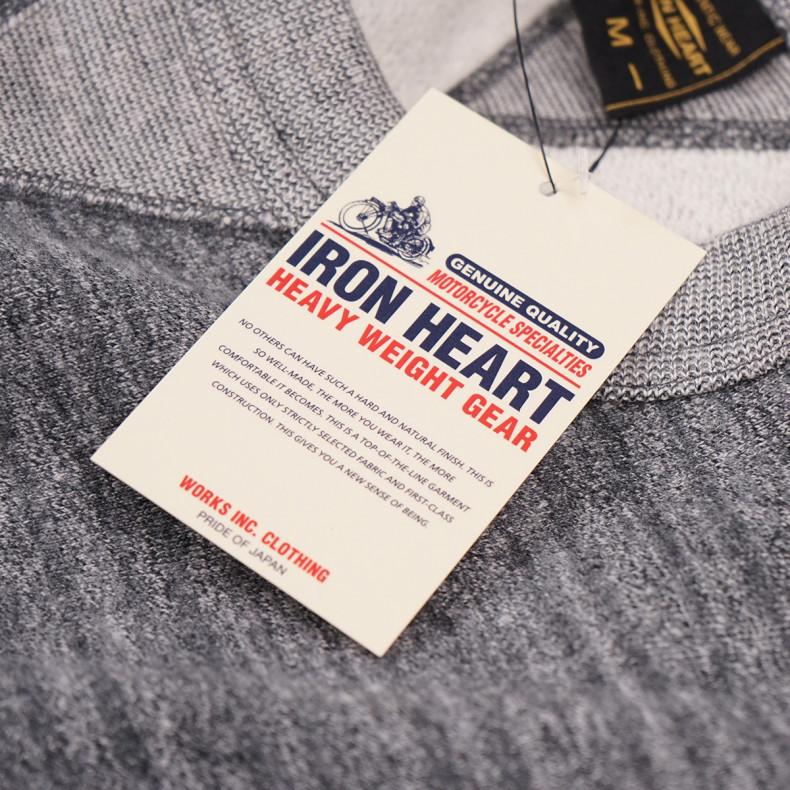 Толстовка Iron Heart Heavy Loopwheel Fleece Lined Sweater - Grey Marl