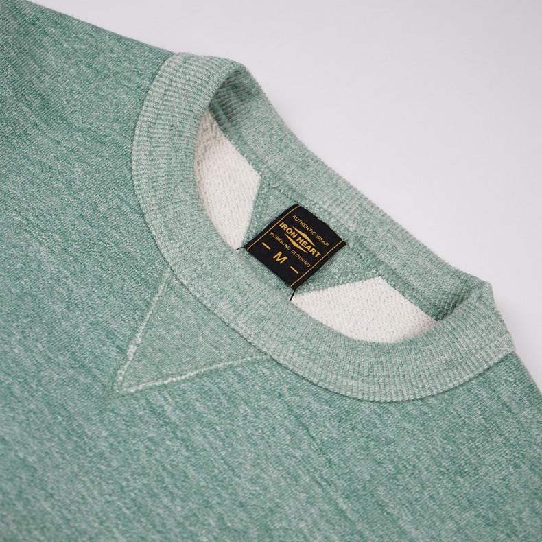 Толстовка Iron Heart Heavy Loopwheel Fleece Lined Sweater - Mint Green