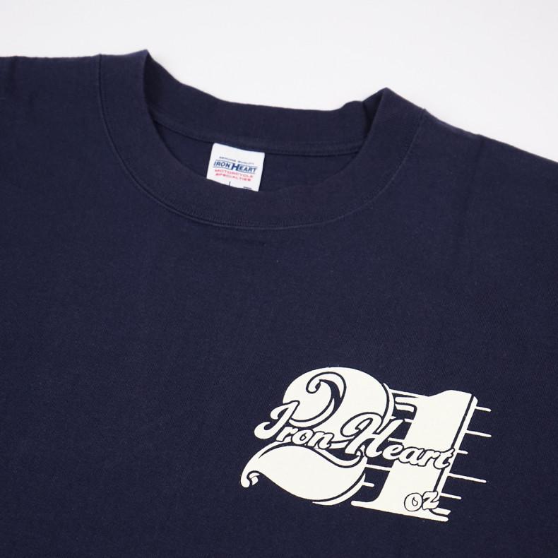 Футболка Iron Heart IHT-1903 7.5oz Print T-shirt 21oz Pattern Navy