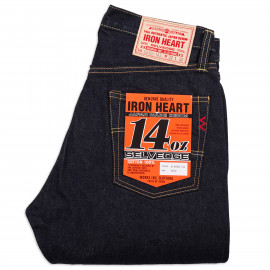 Джинсы Iron Heart IH-888S-142 High Rise Tapered Cut Indigo 14oz Selvedge