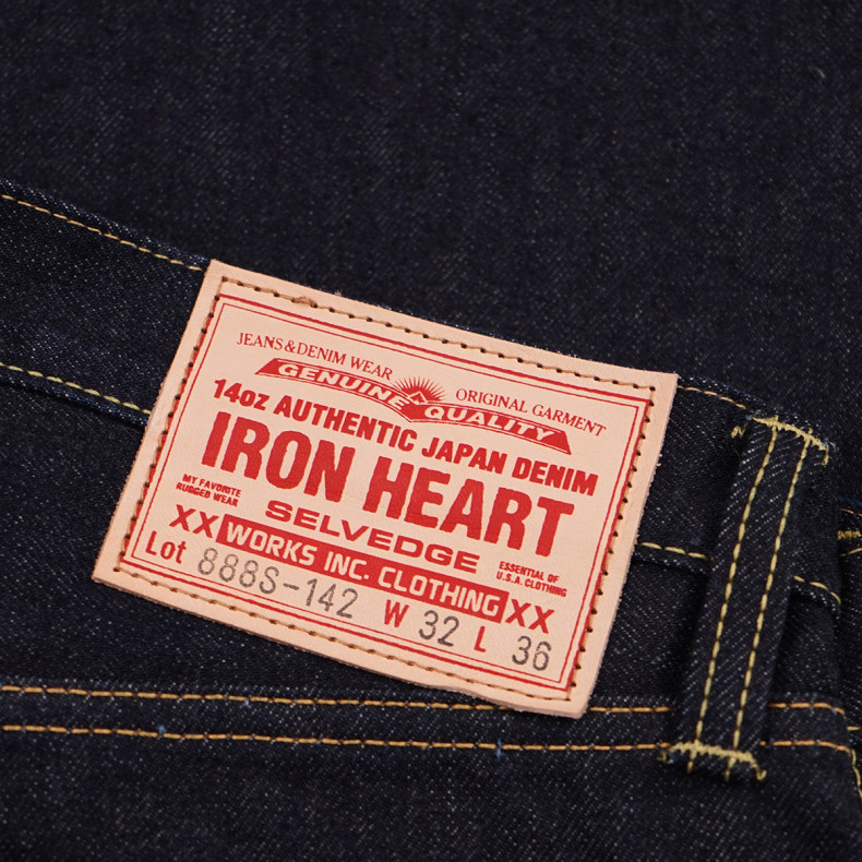 Джинсы Iron Heart IH-888S-142 High Rise Tapered Cut Indigo 14oz Selvedge
