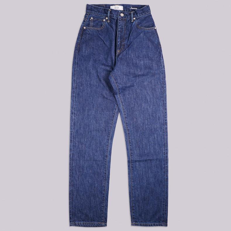 Женские Джинсы URVIN Jeanne High Straight 12 oz Selvedge Blue Wash