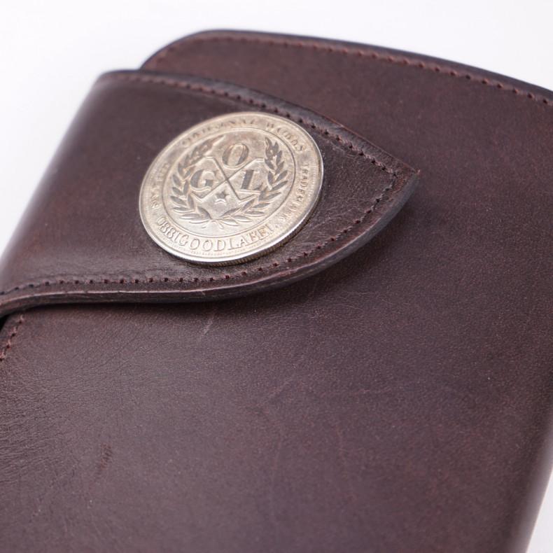 Кошелек OGL Leather Medium Trucker Wallet Brown