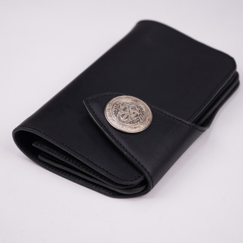Кошелек OGL Leather Medium Trucker Wallet Black