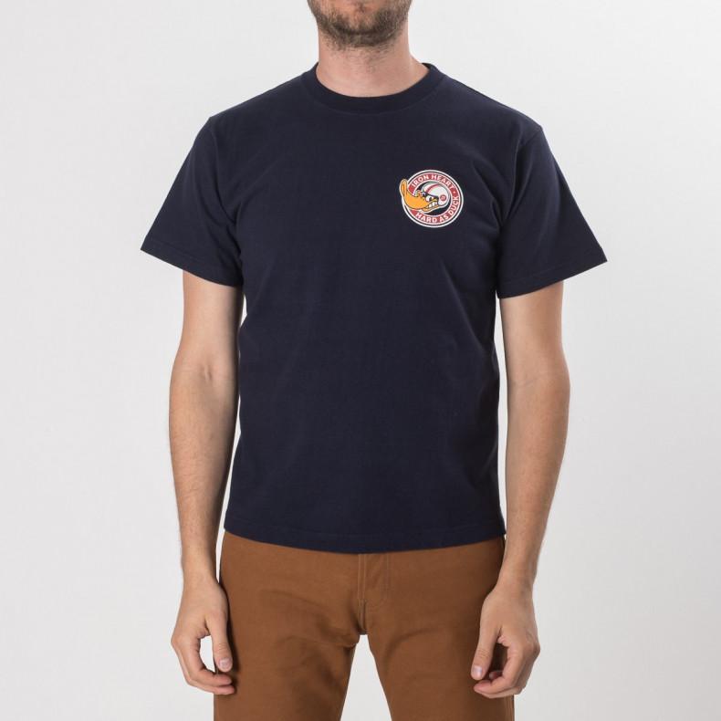 """Футболка Iron Heart IHT-Had 7.5oz Printed Loopwheel T-Shirt """"Hard as Duck"""" - Navy"""