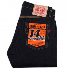 Джинсы Iron Heart IH-666-14 Slim Straight Cut Indigo 14 oz Selvedge One Wash