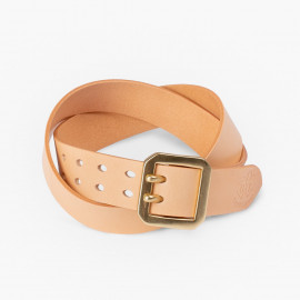 Ремень OGL Double Prong Garrison Buckle Leather Belt - Natural