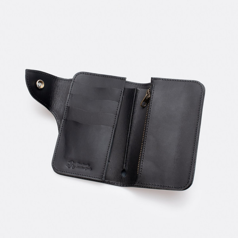 Кошелек OGL Leather Medium Trucker Wallet Black