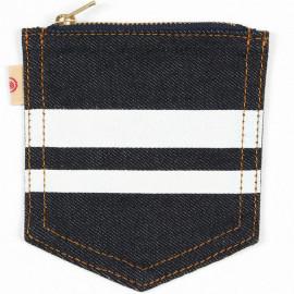 Кошелек Momotaro Jeans denim indigo
