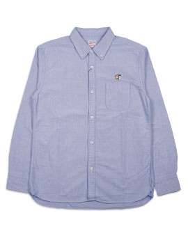 Рубашка Momotaro Jeans 05-230 Button-down Oxford Shirt Blue