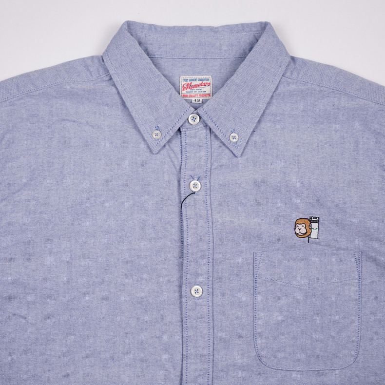 Рубашка Momotaro Jeans 05-230 Button-down Oxford Shirt Blue