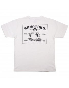 Футболка Momotaro Jeans 07-072 Patch Design Print T-shirts white