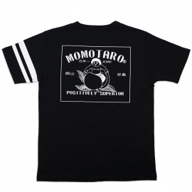 Футболка Momotaro Jeans 07-072 Patch Design Print T-shirts Black