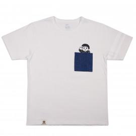 Футболка Momotaro Jeans 07-066 Pocket Momotaro Denim T-shirts White