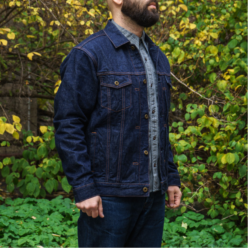 Джинсовая Куртка Japan Blue Jeans JBJK1063-J Jacket 13.5oz Côte d'lvoire Cotton Vintage Selvage - One Wash
