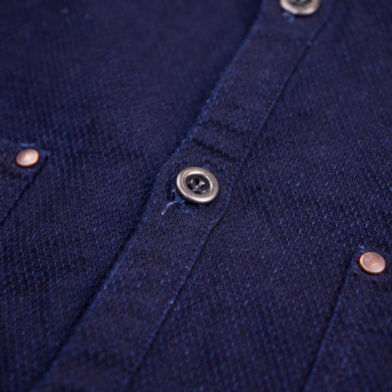 Кардиган Momotaro Jeans 05-315 Dobby Shirt GTB Cardigan Indigo