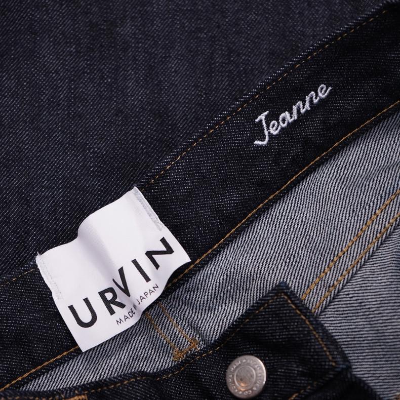 Женские Джинсы URVIN Jeanne High Straight 12 oz Selvedge One Wash