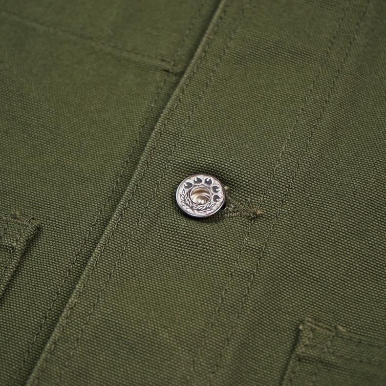 Куртка Momotaro Jeans 03-169 Waterproof Canvas USN Coveralls Olive Green