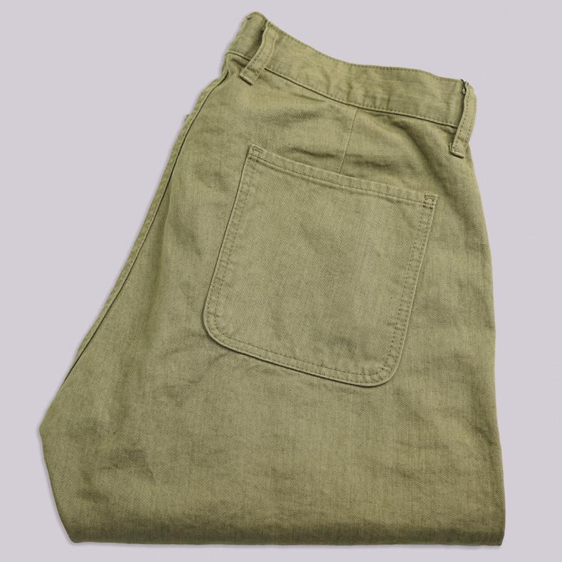 Брюки Momotaro Jeans 01-089 Regular 10.5oz Color Denim Trousers OD