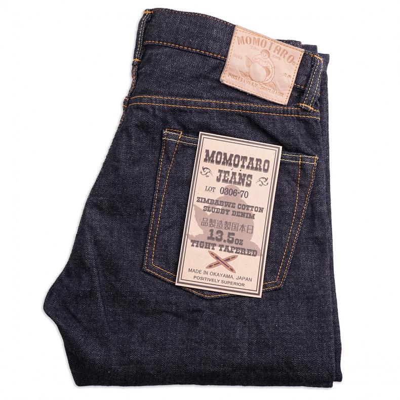 Джинсы Momotaro Jeans 0306-70 Tight Tapered 13.5oz Zimbabwe Cotton Slubby Selvedge One Wash