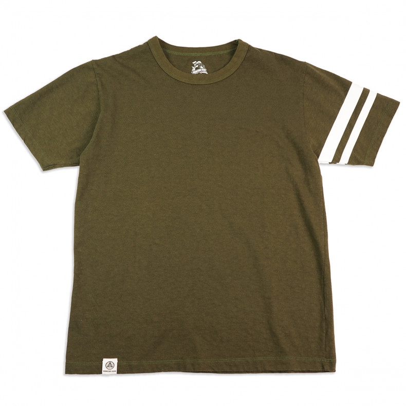 Футболка Momotaro Jeans MT-302 GTB T-shirts OD Olive Green