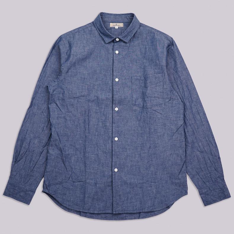 Рубашка Japan Blue Jeans J350323 Buono Shirt 5oz Cote d'Ivoire Selvedge Chambray ID