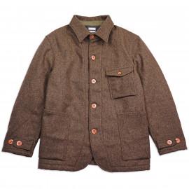 Куртка Momotaro Jeans 03-124 Melton Wool French Work Jacket Brown