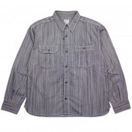 Рубашка Momotaro Jeans 05-283 Hickory Stripe Work ShirtsID/White