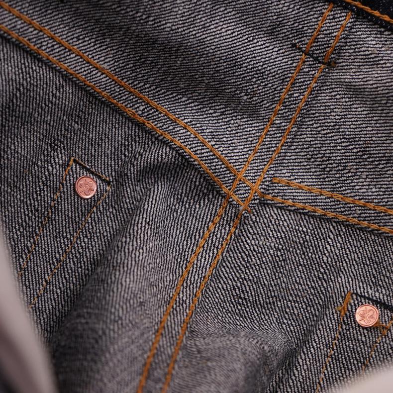 Джинсы Momotaro Jeans 0605-82IE Natural Tapered 16oz Texture Denim ID Embroidery Raw