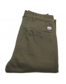 Брюки Momotaro Jeans 01-083 Whipcord Relax Tapered Trousers OD Green